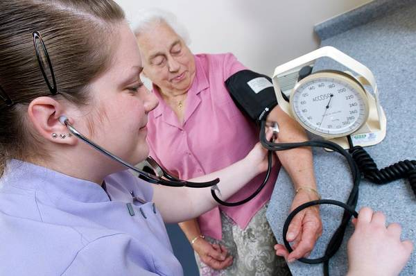 Gauge Photograph - Measuring Blood Pressure by Jim Varney/science Photo Library