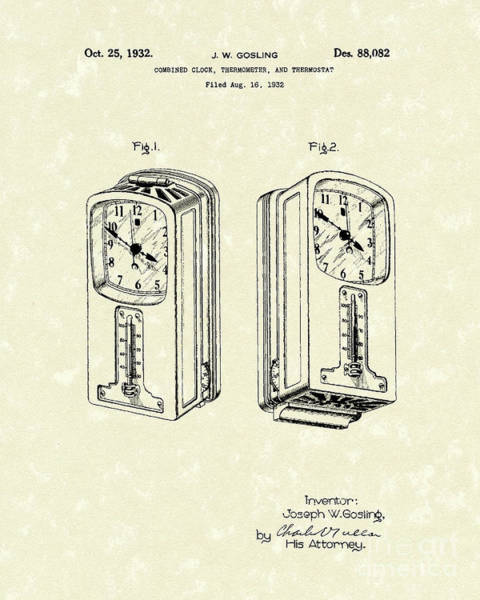 1932 Wall Art - Drawing - Measuring Device 1932 Patent Art by Prior Art Design