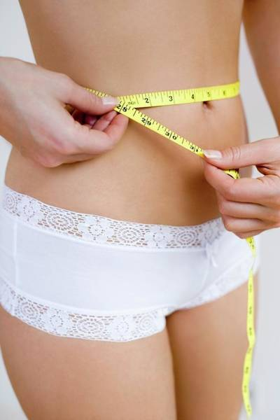 Anorexia Photograph - Measuring Waist by Ian Hooton/science Photo Library