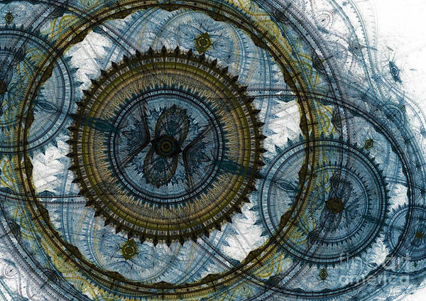 Complex Digital Art - Mechanical Circles by Martin Capek