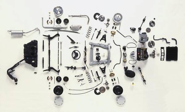 Mechanical Components Art Print by Dorling Kindersley/uig
