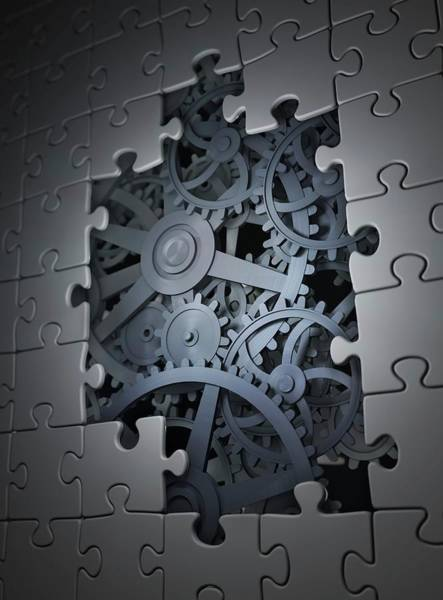 Wall Art - Photograph - Mechanical Puzzle by Andrzej Wojcicki/science Photo Library