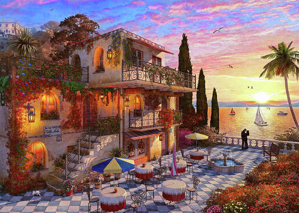 Wall Art - Painting - Med Villa by MGL Meiklejohn Graphics Licensing