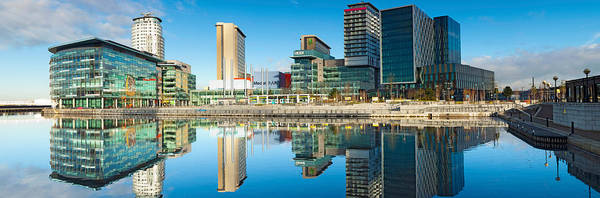 Greater Manchester Wall Art - Photograph - Media City At Salford Quays, Greater by Panoramic Images