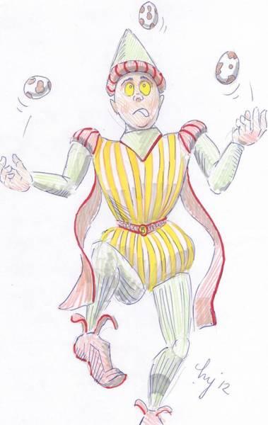 Drawing - Baryon Cartoon by Mike Jory