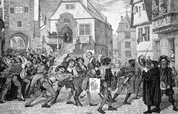 Engraving Photograph - Mediaeval Unrest by Bildagentur-online/tschanz
