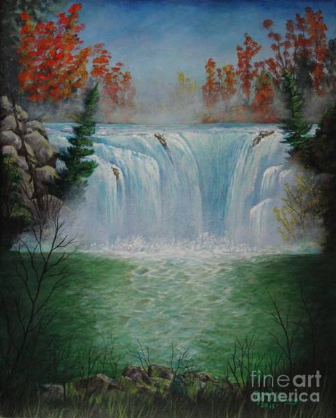 Painting - Mediation Falls by Bob Williams