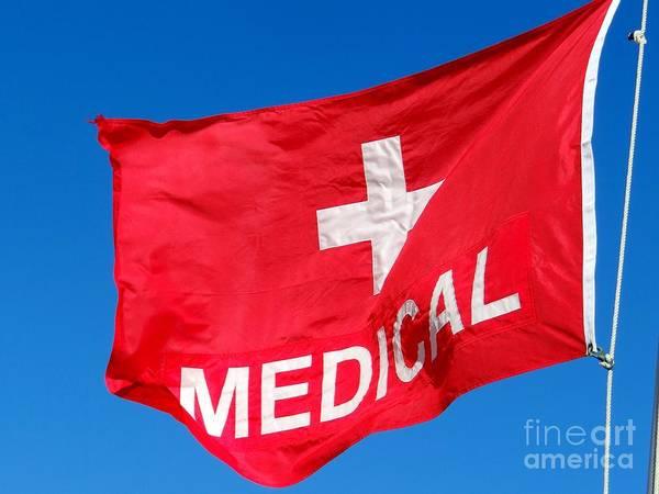 Wall Art - Photograph - Medical Flag by Ed Weidman