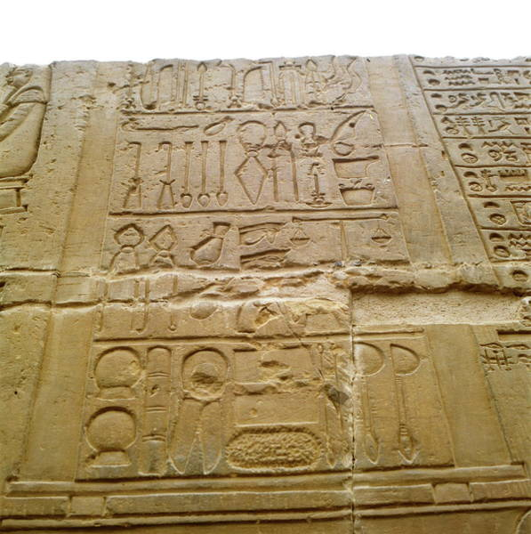 Wall Art - Photograph - Medical Hieroglyphics by Robert Brook/science Photo Library