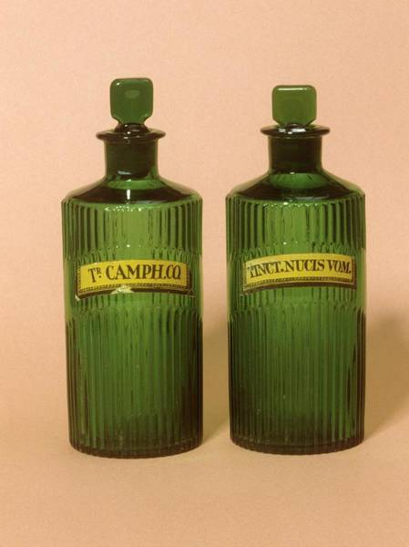 Bottle Green Photograph - Medicine Bottles by Science Photo Library