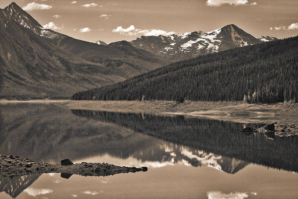 Photograph - Medicine Lake - Black And White by Stuart Litoff