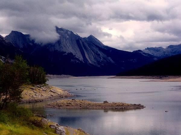 River Scene Mixed Media - Medicine Lake by Janet Ashworth