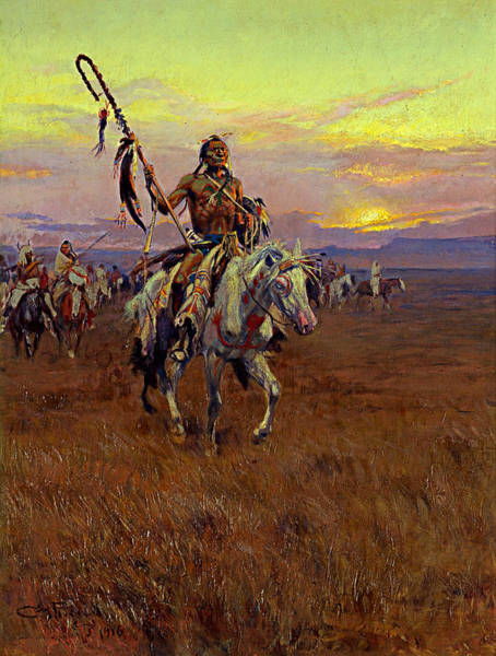 Medicine Painting - Medicine Man by Charles Marion Russell
