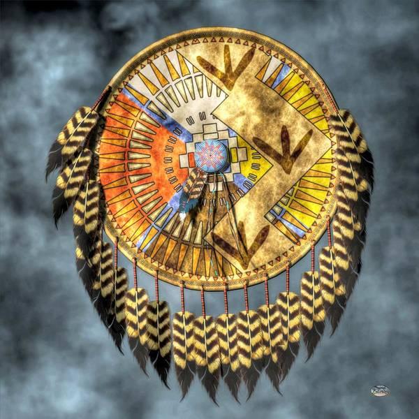 Indian Brave Digital Art - Medicine Shield by Daniel Eskridge