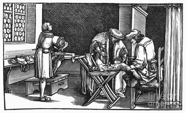 Consolation Wall Art - Photograph - Medicine: Surgery, 1537 by Granger