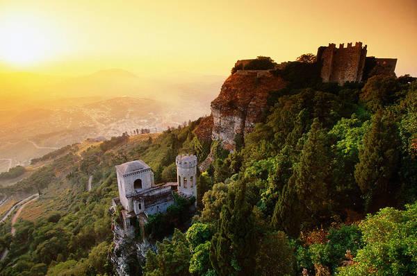 Sicily Photograph - Medieval Castello Di Venere 12th by John Elk