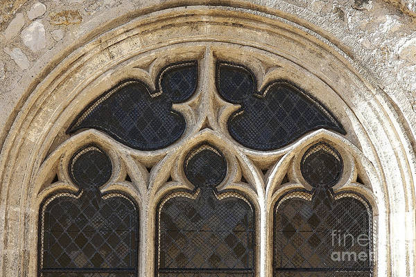Photograph - Medieval Church Window Ornaments by Heiko Koehrer-Wagner