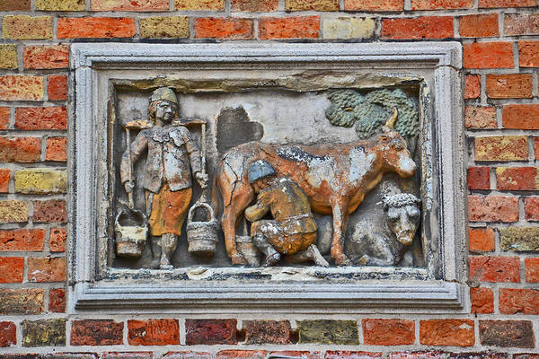 Gleeson Photograph - Medieval City Museum. Bruges. by Andy Za