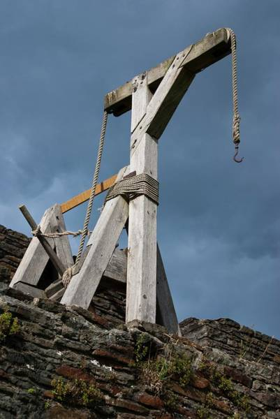 Middle Ages Photograph - Medieval Crane by Mark Williamson