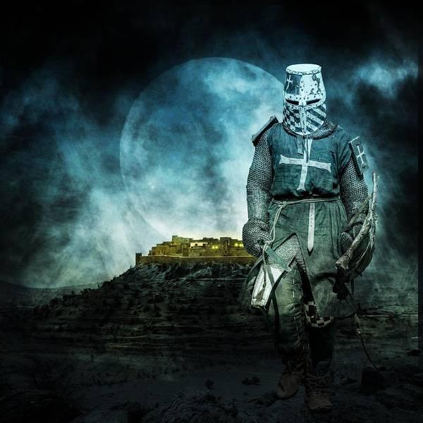 Shield Photograph - Medieval Crusader by Jaroslaw Grudzinski