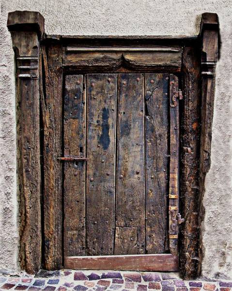 Knot Hole Photograph - Medieval Door by Russ Murry