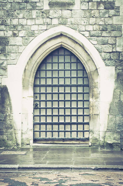 Archway Photograph - Medieval Door by Tom Gowanlock