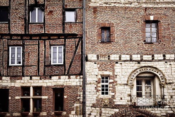 Red Brick Photograph - Medieval Houses In Albi France by Elena Elisseeva