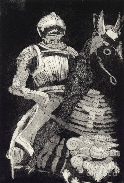Painting - Medieval Knight On Horseback - Chevalier - Caballero - Cavaleiro - Fidalgo - Riddare -ridder -ritter by Urft Valley Art