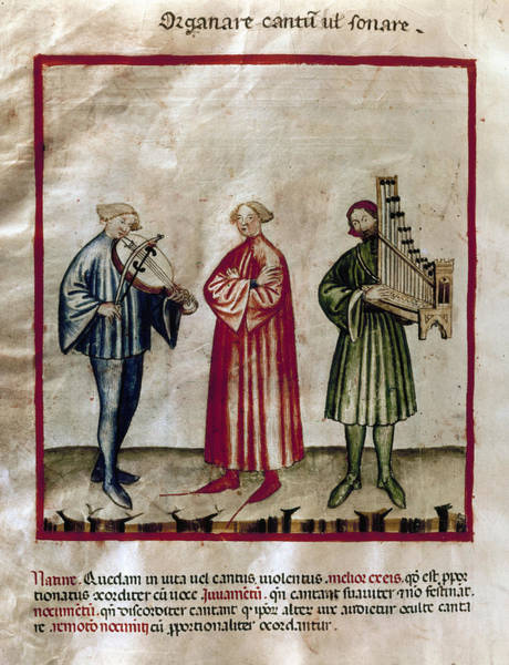 Painting - Medieval Musicians by Granger