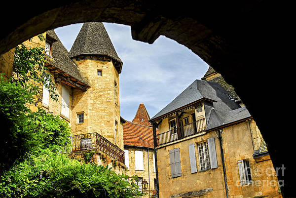 Ancient Architecture Photograph - Medieval Sarlat  by Elena Elisseeva