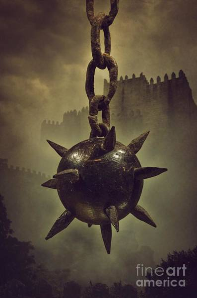 Chain Link Photograph - Medieval Spike Ball  by Carlos Caetano