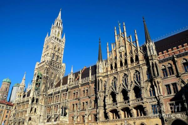 Glockenspiel Photograph - Medieval Town Hall Building Munich Germany by Imran Ahmed