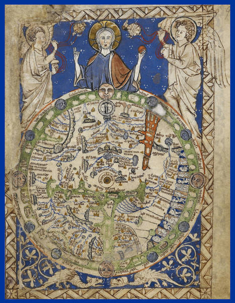 Wall Art - Photograph - Medieval World Map by British Library