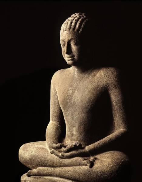 Thai Photograph - Meditating Buddha, Davaravati Period by Thai School