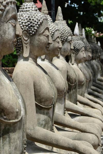 Statue Photograph - Meditating Buddha Statue At Ayutaya by Dangdumrong