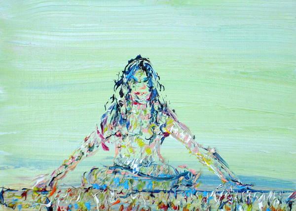 Crossed Legs Painting - Meditation Blues by Fabrizio Cassetta