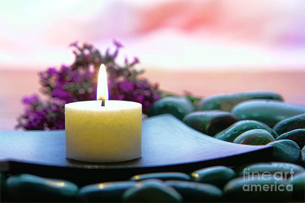 Meditative Wall Art - Photograph - Meditation Candle by Olivier Le Queinec