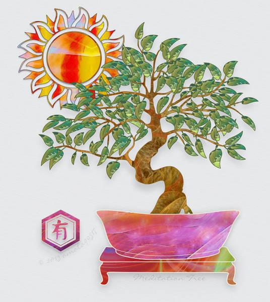 Bonsai Tree Digital Art - Meditation Tree by Gayle Odsather