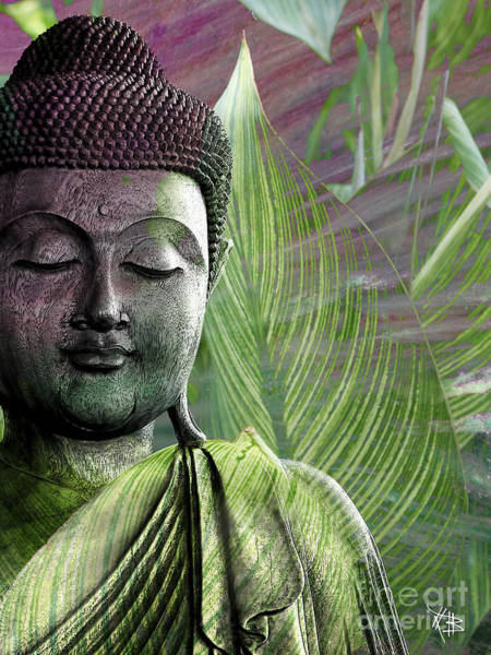 Buddhism Wall Art - Mixed Media - Meditation Vegetation by Christopher Beikmann