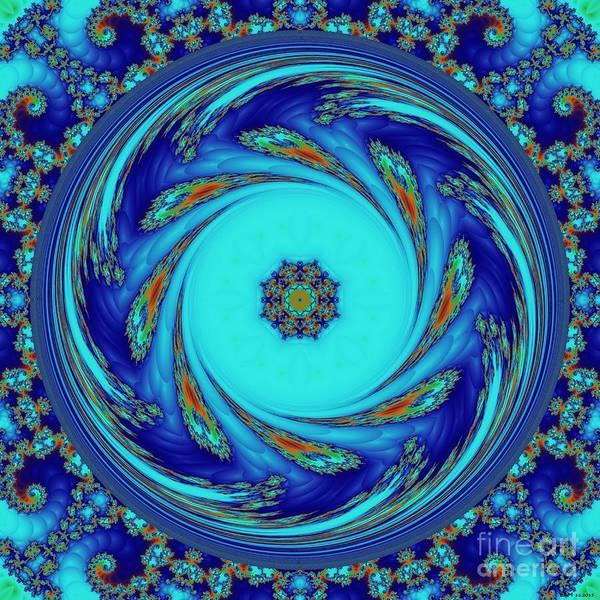 Liz Digital Art - Meditations On Blue by Elizabeth McTaggart