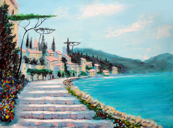 Painting - Mediterranean Shores by Larry Cirigliano