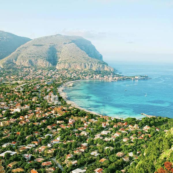 Sicily Photograph - Mediterranean View by Peeterv