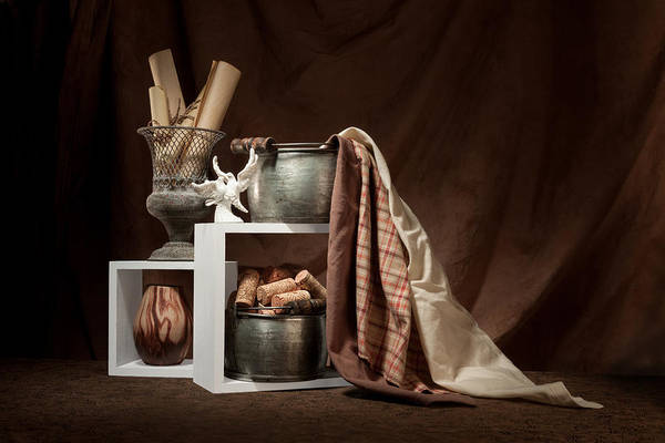 Figurine Wall Art - Photograph - Medley Of Textures Still Life by Tom Mc Nemar