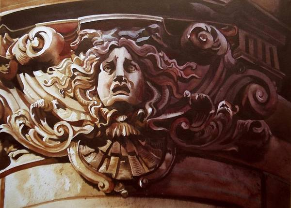 Painting - Medusa In Stone by Alfred Ng