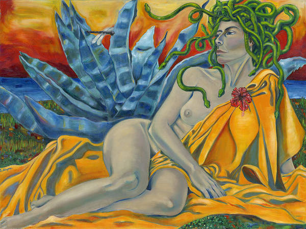 Painting - Medusa Redeemed by Artimis Alcyone