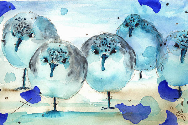 Painting - Meet The Sanderlings by Dawn Derman