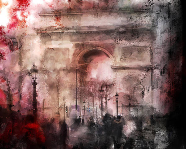 Photograph - Meet You At The Arch Paris by Evie Carrier