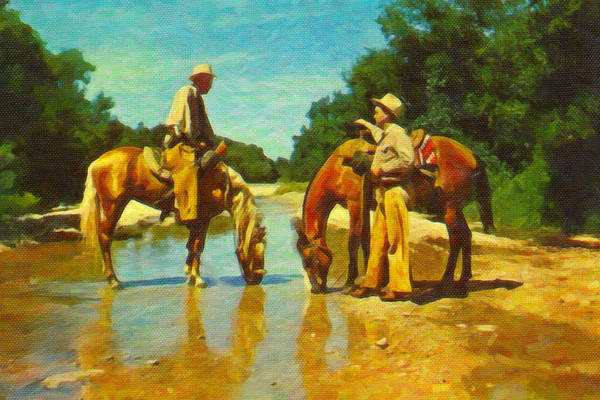 Painting - Meeting At The Stream by Dean Wittle