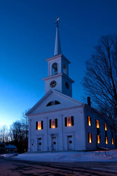 Wall Art - Photograph - Meeting House by Greg Fortier