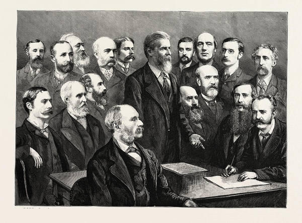 Manchester Drawing - Meeting Of The Bimetallic League At Manchester by English School